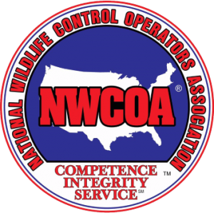 National Wildlife Control Operators Association trained for Animal Removal, extermination, and exclusion.